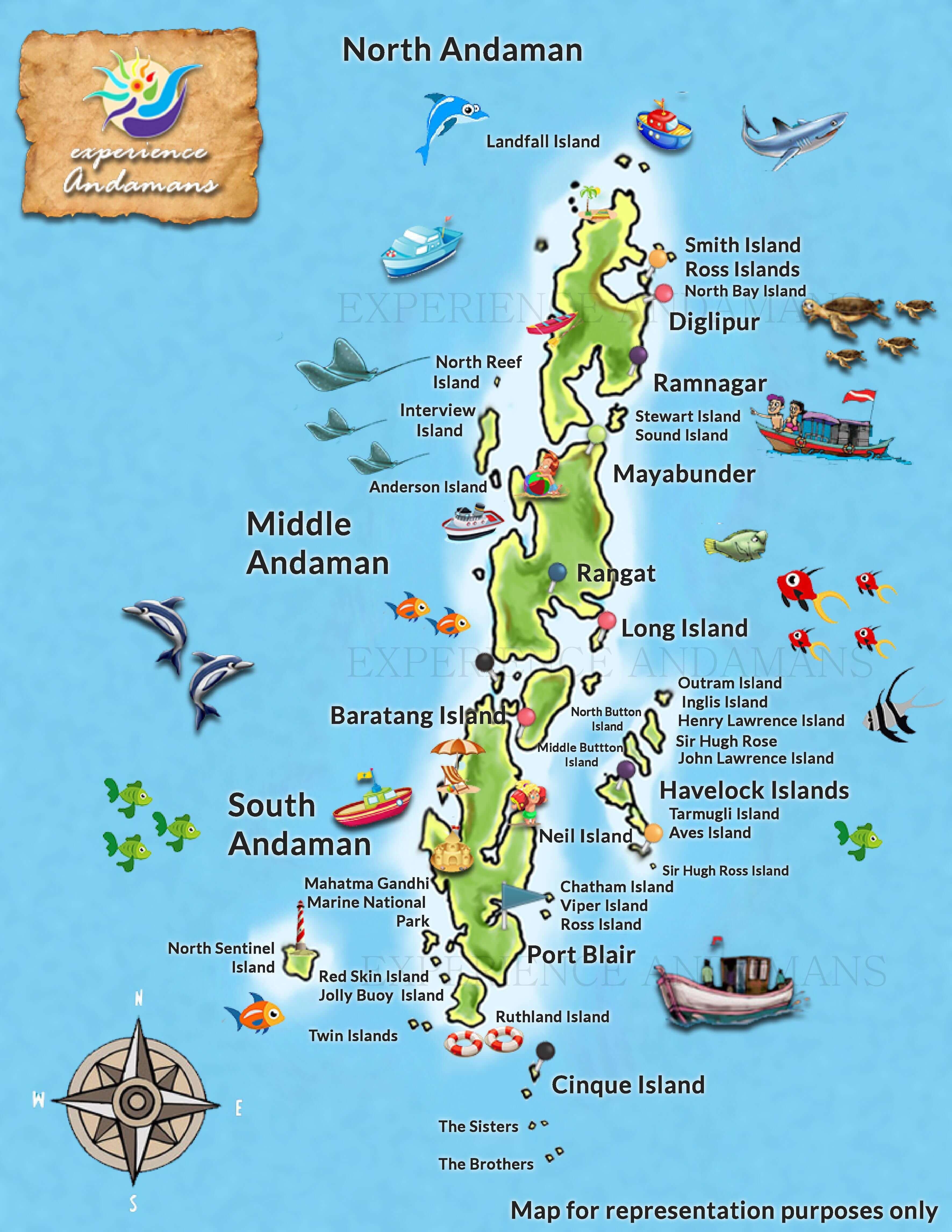 Andaman Islands Map North Bay Island Port Blair | Local Andaman Expert Insights Andaman Islands Map
